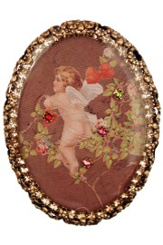 Michal Negrin Cupid Oval Cameo Brooch