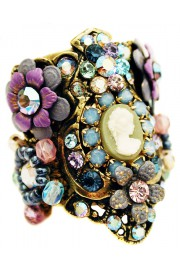 Michal Negrin Purple Blue Cameo Cuff Ring