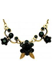 Michal Negrin Black Flower Necklace
