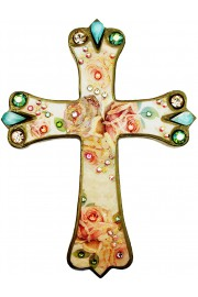 Michal Negrin Victorian Roses Wall Decor Cross