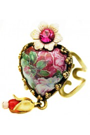 Michal Negrin Wild Roses Heart Ring