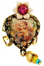 Michal Negrin Victorian Cherub Heart Ring