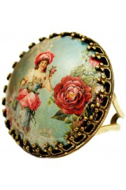 Michal Negrin Victorian Round Cameo Ring