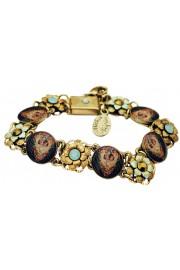 Michal Negrin Cherub Cameos Floral Bracelet