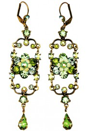 Michal Negrin Green Iconic Chandelier Earrings