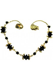 Michal Negrin Black Flowers Necklace