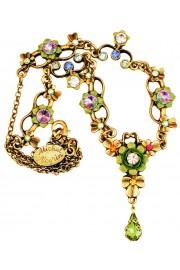 Michal Negrin Multicolor Green Ornate Necklace