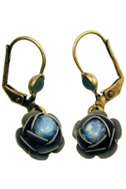 Michal Negrin Icy Blue Rose Earrings