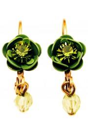 Michal Negrin Green Rose Beads Earrings