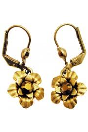 Michal Negrin Bronze Flower Earrings