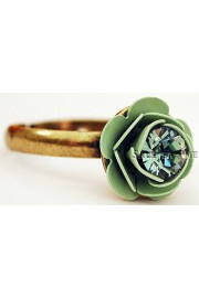 Michal Negrin Sea Green Rose Crystal Ring