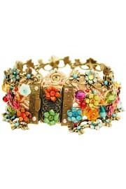 Michal Negrin Multicolor Turquoise Crochet Bracelet