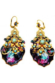 Michal Negrin Purple Turquoise Bewitched Earrings