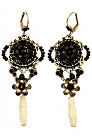 Michal Negrin Black Sundown Earrings