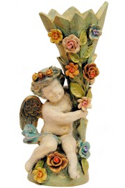 Michal Negrin Cherub Roses Vase