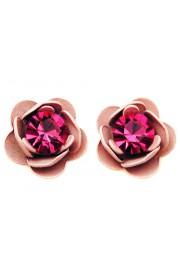 Michal Negrin Fuchsia Pink Rose Stud Earrings