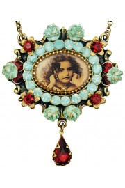 Michal Negrin Girl Medallion Cameo Necklace