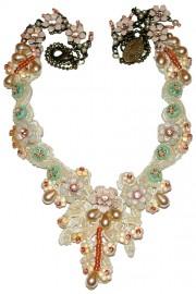 Michal Negrin Vintage Lace Necklace