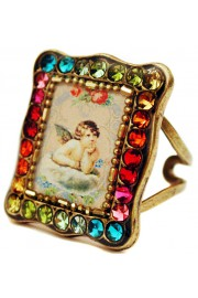 Michal Negrin Multicolor Musing Cherub Rectangle Ring
