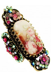 Michal Negrin Vintage Roses Cameo Ring