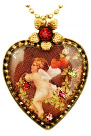 Michal Negrin Cupid Heart Necklace