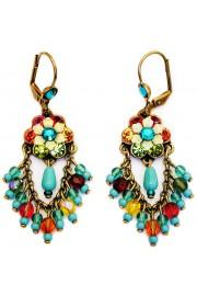 Michal Negrin Multicolor Turquoise Fan Earrings