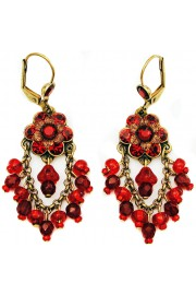 Michal Negrin Red Fan Earrings