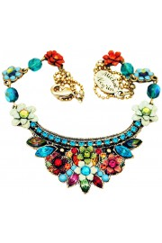 Michal Negrin Multicolor Turquoise Crest Necklace