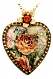 Michal Negrin Victorian Roses Heart Necklace