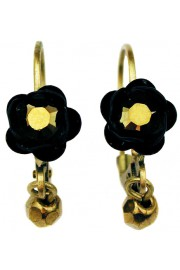 Michal Negrin Black Bronze Rose Beads Earrings