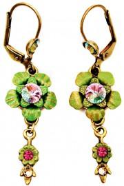 Michal Negrin Vintage Flower Crystal Earrings