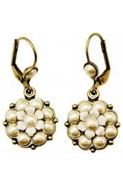 Michal Negrin Pearl Flower Earrings