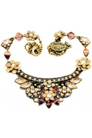Michal Negrin Pearl Peach Crest Necklace