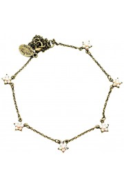 Michal Negrin Clear White Starflowers Anklet