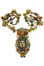 Michal Negrin Dolls Kiss Cameo Multicolor Necklace