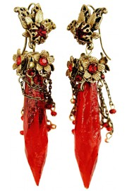Michal Negrin Red Bewitched Earrings