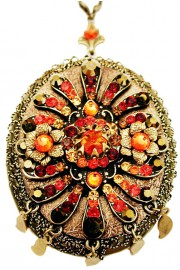 Michal Negrin Sunset Crystal Locket Necklace