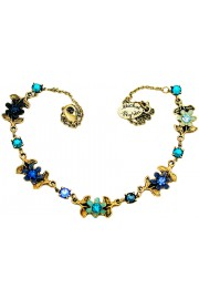 Michal Negrin Blue Turquoise Flowers Necklace