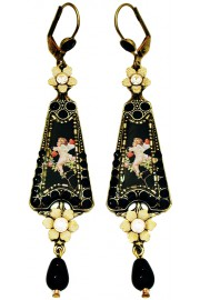Michal Negrin Black Cupid Triangle Earrings