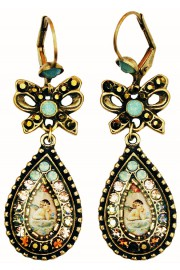Michal Negrin Musing Cherub Cameo Bow Earrings