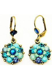 Michal Negrin Turquoise Mix Flower Earrings