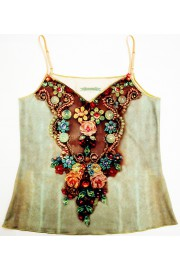 Michal Negrin Vintage Roses Cami Top
