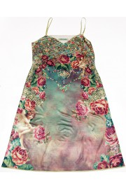 Michal Negrin Victorian Cherub Roses Dress
