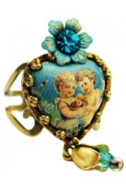 Michal Negrin Friendship Heart Ring