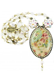 Michal Negrin Baroque Roses Cameo Necklace