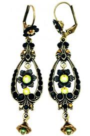 Michal Negrin Black Vitrail Spade Earrings