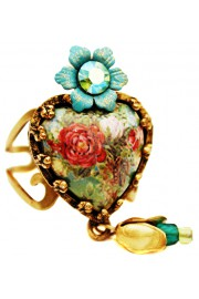 Michal Negrin Antique Roses Heart Ring