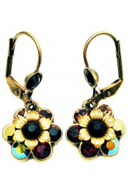 Michal Negrin Antique Crystals Flower Earrings