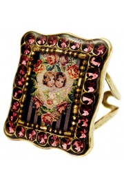 Michal Negrin Purple Cherubs Rectangle Ring