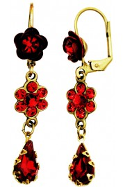 Michal Negrin Red Rose Teardrop Earrings